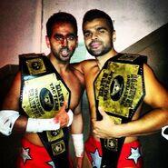 Gurv and Harv Sihra tag team champions