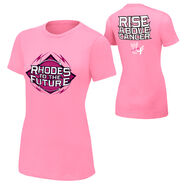 Cody Rhodes Rise Above Cancer Pink Women's T-Shirt