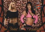 2004 WWE Divas 2005 (Fleer) Trish Stratus & Victoria 53