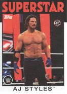 2016 WWE Heritage Wrestling Cards (Topps) AJ Styles 1