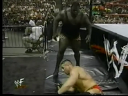 Mark Henry attacks Ken Shamrock outside