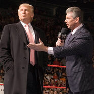 Donald Trump and Vince McMahon in the ring
