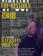 Timeline History of WWE - 1988 Hacksaw Jim Duggan