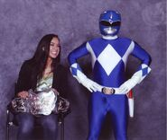 AJ Lee with Blue Ranger