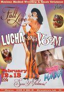 Lucha VaVoom Valentines 2014 Poster