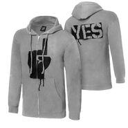 Daniel Bryan YES Rebellion Grey Youth Full-Zip Hoodie Sweatshirt