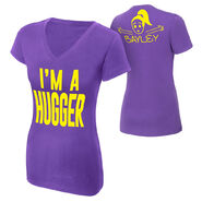 Bayley I'm A Hugger Women's V-Neck Authentic T-Shirt