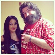 Mandy Leon & Mick Foley