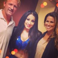 Mandy Leon with Jeff & Karen Jarrett