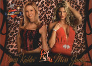 2004 WWE Divas 2005 (Fleer) Stacy Keibler & Jackie Gayda 61