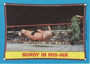 1987 WWF Wrestling Cards (Topps) Bundy In Mid-Air 42