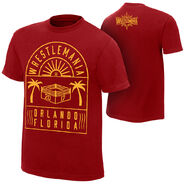 WrestleMania 33 Ring Red T-Shirt