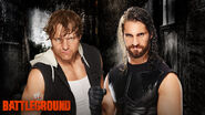 Battleground2014 ambrose rollins match