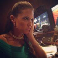 Stephanie Backstage @ Payback 2014