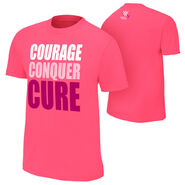 WWE Courage Conquer Cure Youth Pink T-Shirt