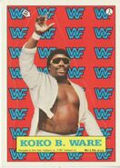 1987 WWF Wrestling Cards (Topps) Sticker Koko B. Ware 3