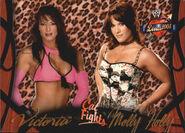 2004 WWE Divas 2005 (Fleer) Victoria & Molly 55