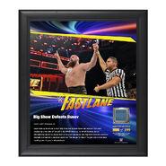 Big Show FastLane 2017 15 x 17 Framed Plaque w Ring Canvas