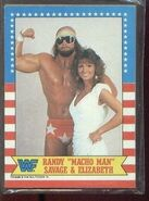 1987 WWF Wrestling Cards (Topps) Randy Savage & Elizabeth 7