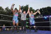 Jon West and Mad Dog McDowell 3XWrestling Tag Team Champions