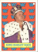 1987 WWF Wrestling Cards (Topps) Sticker King Harley Race 7