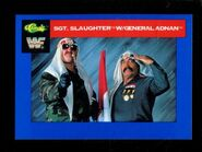 1991 WWF Classic Superstars Cards Sgt. Slaughter with General Adnan 108