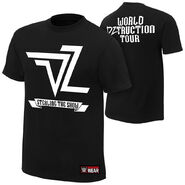Dolph Ziggler World DZtruction Tour Authentic T-Shirt