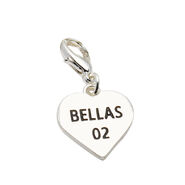 The Bellas Heart Silver Charm