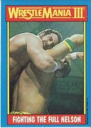 1987 WWF Wrestling Cards (Topps) Fighting The Full Nelson 51
