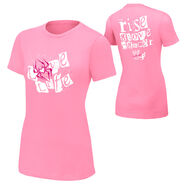 AJ Lee Rise Above Cancer Pink Women's T-Shirt