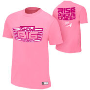 Big Show Rise Above Cancer Pink Authentic T-Shirt