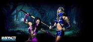 Gail Kim & Velvet Sky 2013 TNA Halloween Shoot