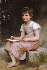 William-Adolphe Bouguereau (1825-1905) - A Calling (1896)