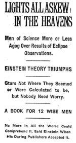 Einstein theory triumphs
