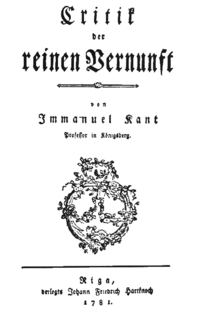 Kant-KdrV-1781
