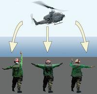 Us navy helicopter landing signals illustration