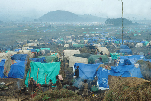 File:Rwandan refugee camp in east Zaire.jpg