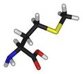 L-methionine-3D-sticks