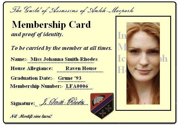 Johanna's ID card