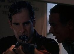 QL episode 5x2 - Sam as Lee Harvey Oswald with Al
