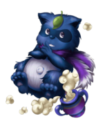 Rain Raccoon (King) transparent