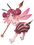 Fire Bee-girl transparent