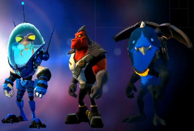 File:Intergalactic Foot Soldier Pack blue team skins.png