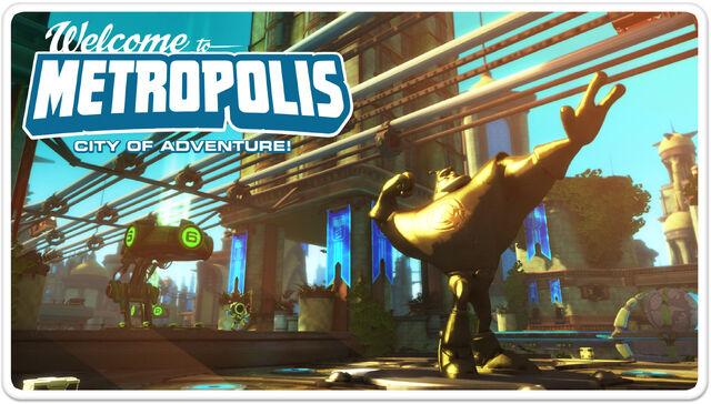 File:Ratchet & Clank Full Frontal Assault Metropolis Postcard.jpg