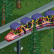 Retro-style Monorail Trains RCT2 Icon
