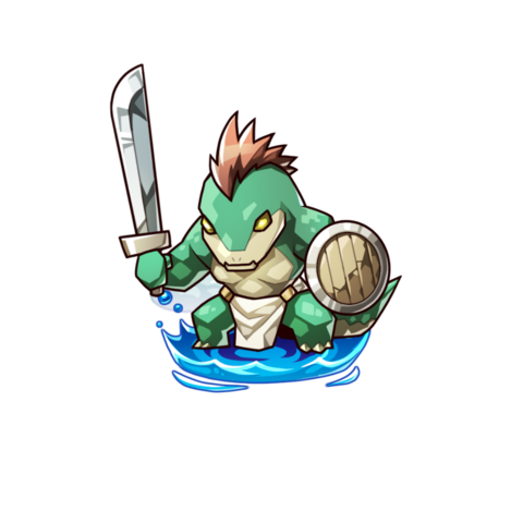 A Green Lizard in the mobile game