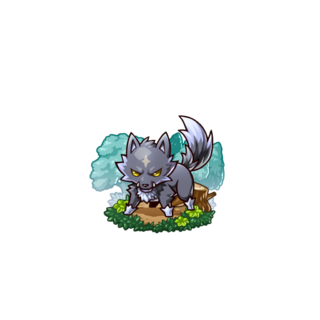 A Black Wolf in the mobile game
