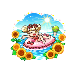 Princess Rubiria (Surf's Sound of the Relaxing Ocean) in the mobile game