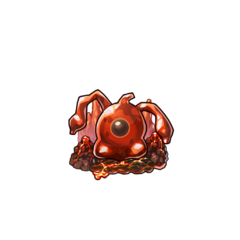 A Lava Slime in the mobile game