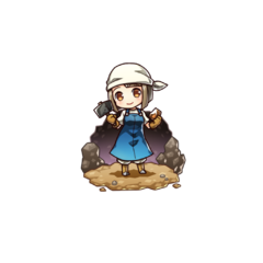 Emery as a Smith in the mobile game